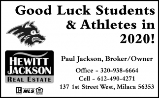 Good Luck Students & Athletes in 2020!