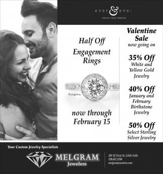 Half Off Engagement Ring
