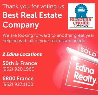 Thank You for Voting Us Best Real Estate Company