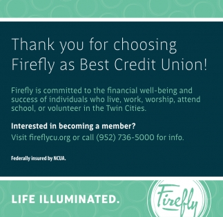 Thank You for Choosing Firefly as Best Credit Union!