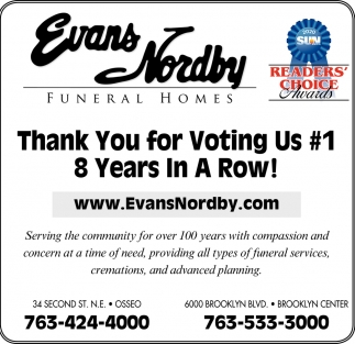 Thank You for Voting Us #1 8 Years in a Row!