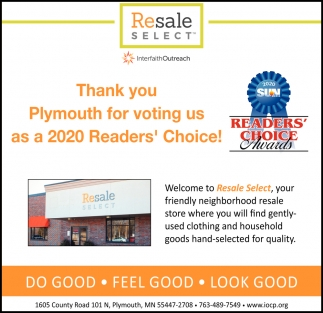 Thank You Plymouth for Voting Us as a 2020 Readers' Choice!