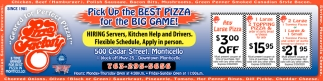 Pick Up the Best Pizza for the Big Game!