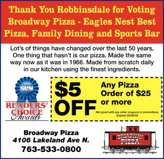 Thank You Robbinsdale for Voting