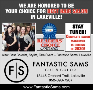 We are Honored to be Your Choice for Best Hair Salon in Lakeville!