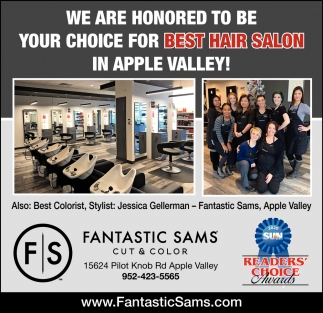 We are Honored to be Your Choice for Best Hair Salon in Apple Valley!