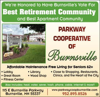We're Honored to Have Burnsville's Vote for Best Retirement Community and Best Apartment Community