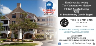 Thank You for Voting the Commons on Marice #1 Best Assisted Living