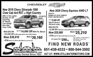 New 2020 Chevy Equinox AWD LT
