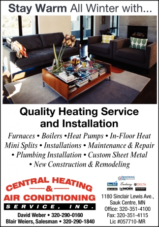 Stay Warm All Winter with... Quality Heating Services and Installation