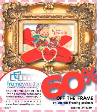60% OFF The Frame On Custom Framing Projects