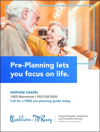 Pre-Planning Lets Your Focus On Life