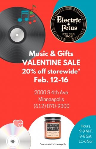 Music & Gifts Valentine Sale