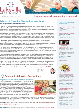 Friends of Education Nominations Now Open