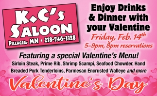Enjoy Drinks & Dinner with Your Valentine