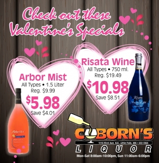 Check Out these Valentine's Specials