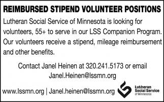 Reimbursed Stipend Volunteer Position