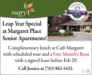 Leap Year Special at Margaret Place Senior Apartments