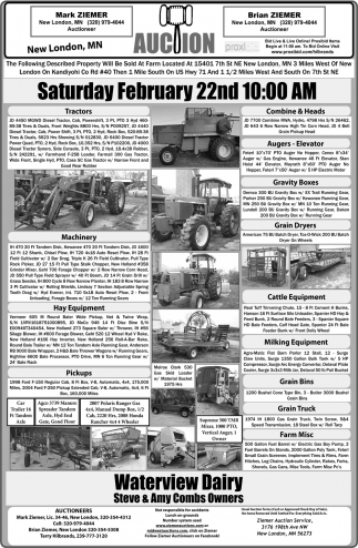 Auction Saturday, February 22nd