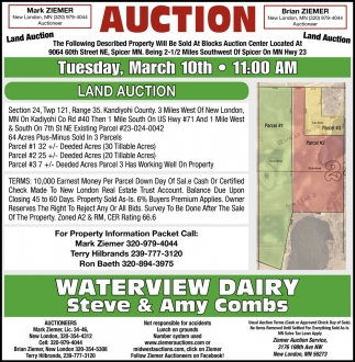 Auction Tuesday, March 10th