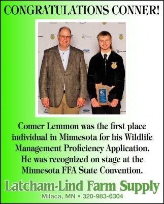 Congratulations Conner!