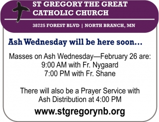 Ash Wednesday Will be Here Soon...