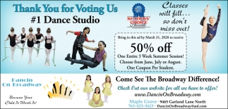 Thank You for Voting Us #1 Dance Studio