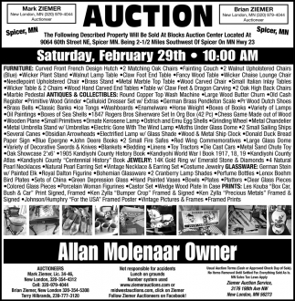 Auction Saturday, February 29th