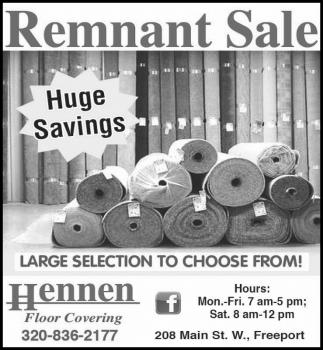Remnant Sale