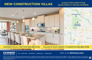 New Construction Villas
