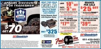 Special Discounts for Tradesmen