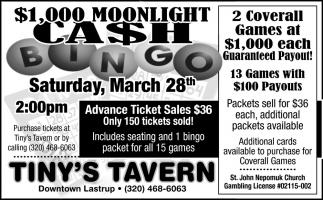 $1,000 Moonlight Cash Bingo