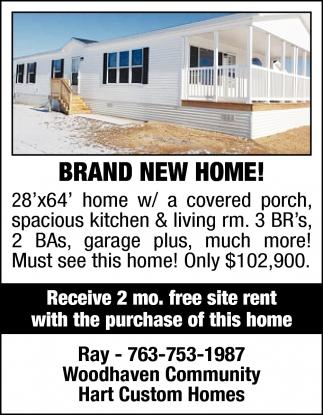 Brand New Home!