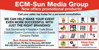 ECM-Sun Media Group Now Offers Promotional Product