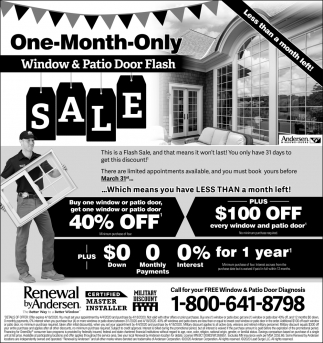 One-Month-Only Window & Patio Door Flash