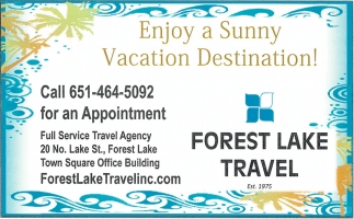 Enjoy a Sunny Vacation Destination!