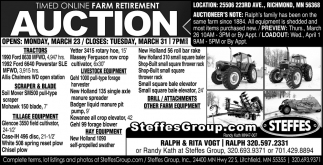 Timed Online Farm Retirement Auction