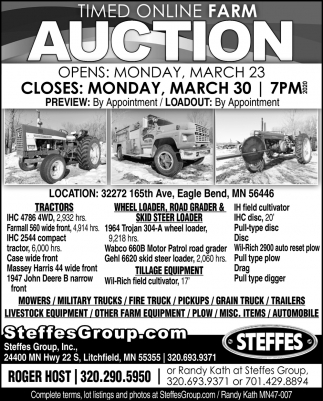 Timed Online Farm Auction