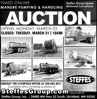 Timed Online Manure Pumping & Handling Auction