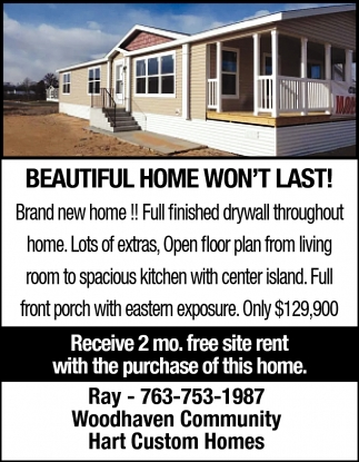 Beatutiful Home Won't Last!