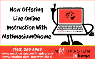 Now Offering Live Online Instruction with Mathnasium@home