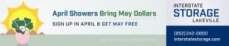 April Showers Bring May Dollars