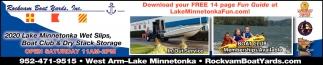 2020 Lake Minnetonka Wet Slips, Boat Club & Dry Stack Storage