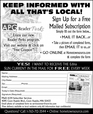 Keep Informed with All That's Local!