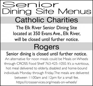 Senior Dining Site Menus
