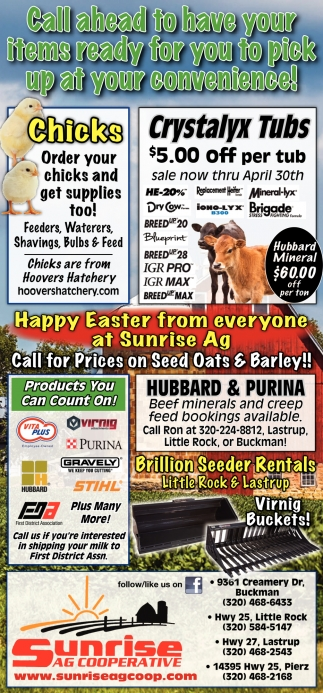 Happy Easter from Everyone at Sunrise AG