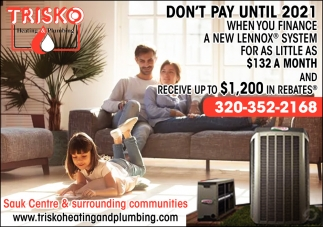 Don't Pay Until 2021, Trisko Heating And Plumbing, West ...