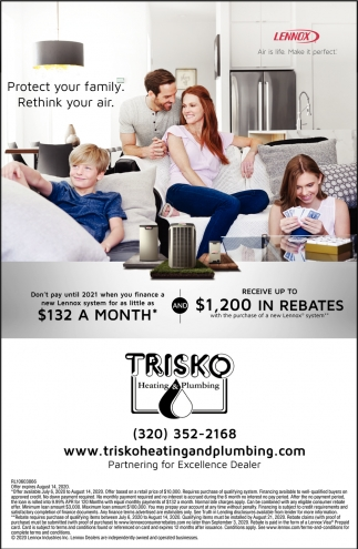 Protect Your Family. Rethink Your Air, Trisko Heating And ...