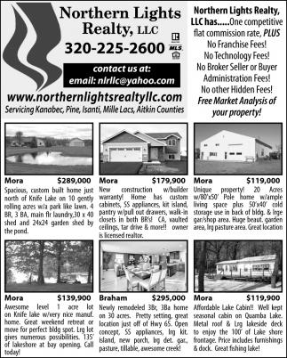 NORTHERN LIGHTS REALTY, Northern Lights Realty, LLC, Mora, MN