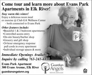 Come tour and learn more about Evans Park Apartments in Elk River!